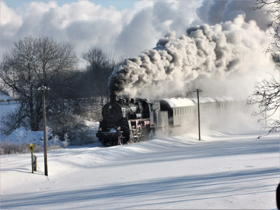 26.01.2019: Winterdampf - Auf alten Gleisen nach Bindweide